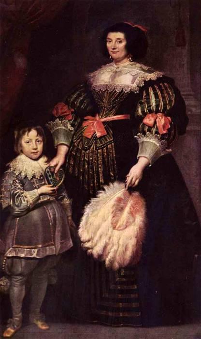 Шарлотта Баткенс госпожа Ануа с сыном, 1631 год. Автор: Антонис ван Дейк (Antoon van Dyck).