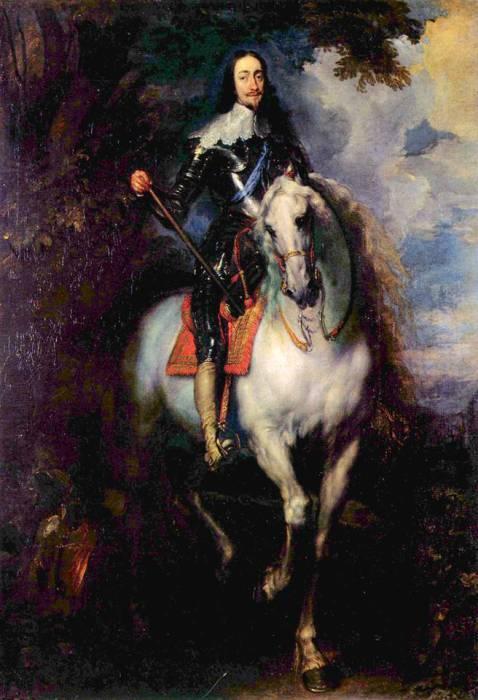Портрет короля Англии Карла I верхом на коне, 1635 год. Автор: Антонис ван Дейк (Antoon van Dyck).