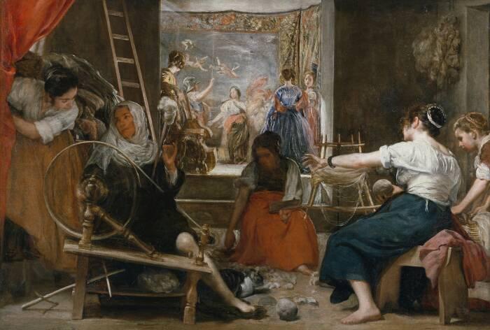 Прядильщики, или басня об Арахне, Диего Веласкес, 1657 год. \ Фото: revistagq.com.