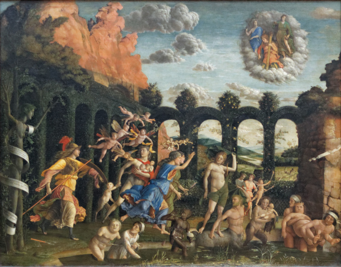 Триумф добродетелей, Андреа Мантенья, 1502 год. \ Фото: el.m.wikipedia.org.