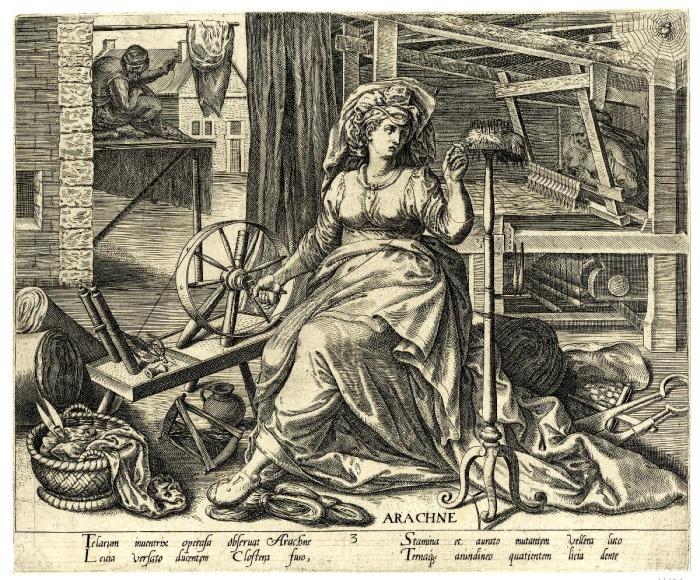 Арахна, Филипс Галле, 1574 год. \ Фото: britishmuseum.org.