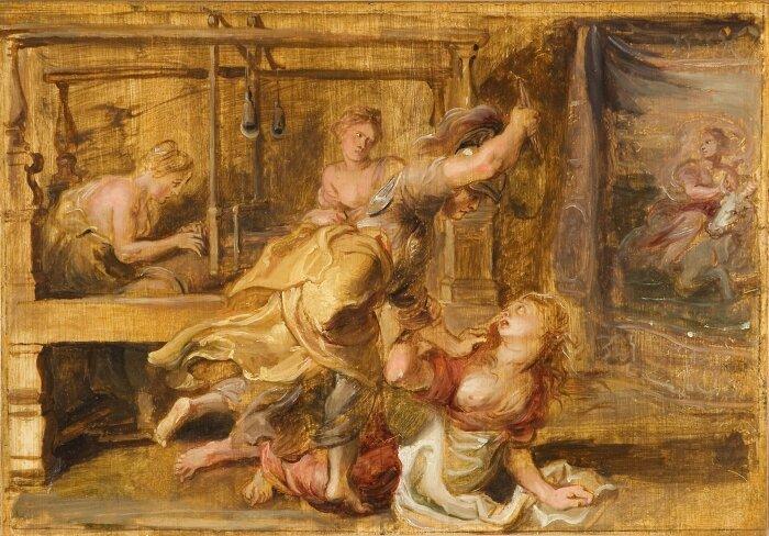 Арахна и Паллада, Питер Пауль Рубенс, 1636-1637 гг. \ Фото: epodreczniki.pl.