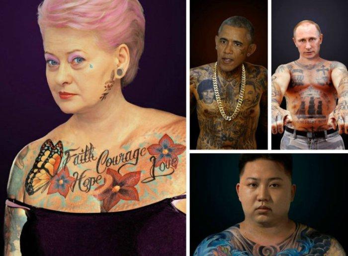 Татуированные президенты. Автор идеи  - фотохудожник  Arminas Raugevicius.
