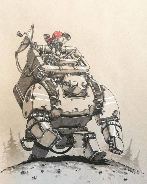 Маша и робомишка. Автор: Артемий Мясников.
