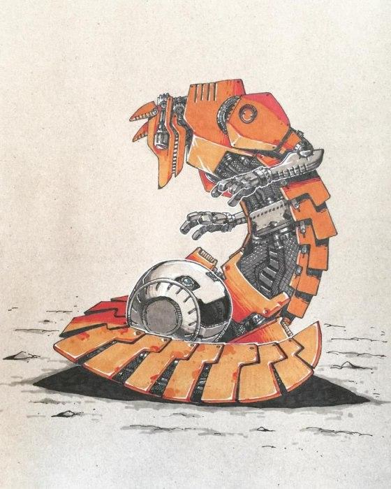 Трагическая встреча Колобка с лисой. Автор: Артемий Мясников.