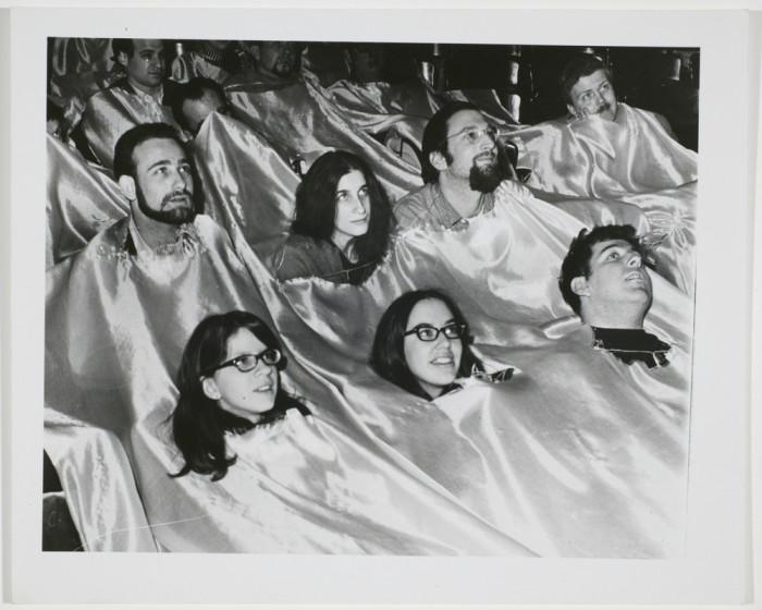 Экспериментальное кино, 1967 год. Автор: Arthur Fellig (Weegee).