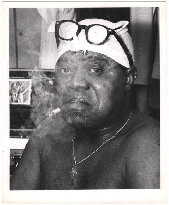 Луи Армстронг, Новый Орлеан, 1950 год. Автор: Arthur Fellig (Weegee).