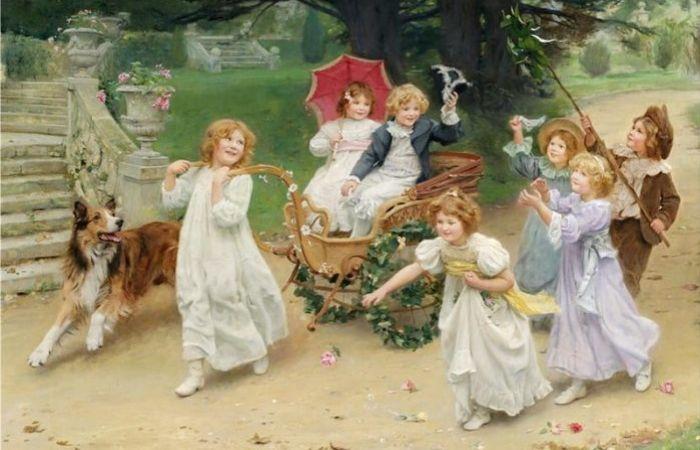 Очаровательные детишки. Автор: Arthur John Elsley.