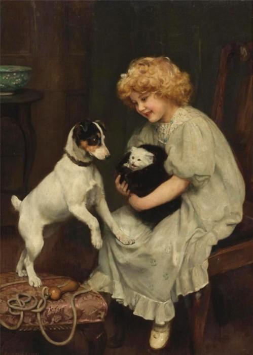 Котёнок. Автор: Arthur John Elsley.