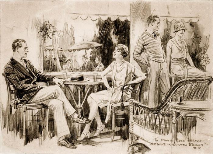 Романтическое свидание. Автор: Артур Уильям Браун (Arthur William Brown).