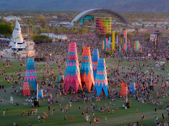 Локации на фестивали Музыки и искусств. Фотограф: Courtesy Coachella