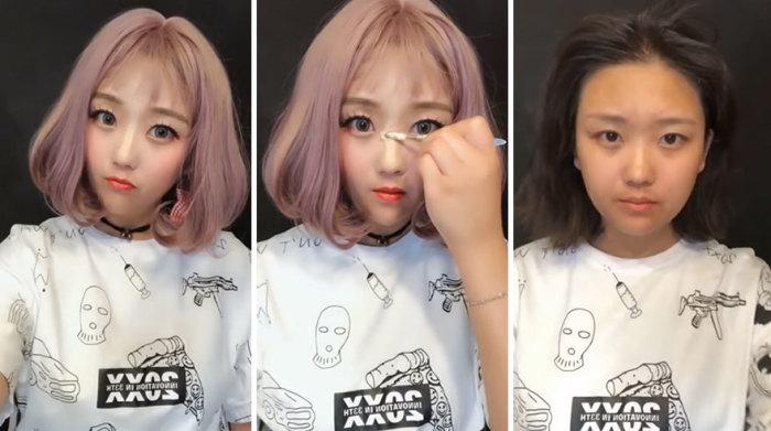 В погоне за красотой, девушки попросту не щадят свои лица, накладывая тонны косметики.