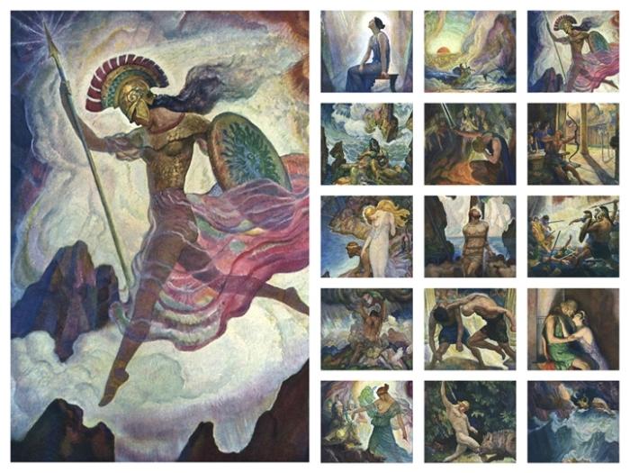 Художник Нэвел Уаетс: Иллюстрации к «Одиссее». \ Фото: vilingstore.net.