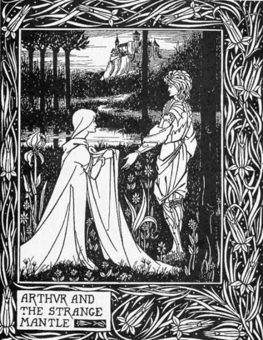 Смерть Артура — Король Артур и странная мантия. Автор: Aubrey Beardsley.