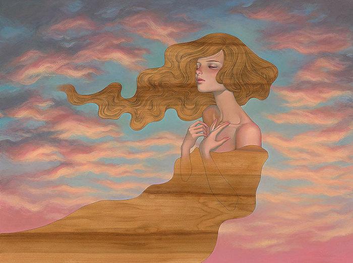 Мечтательница. Автор: Audrey Kawasaki.