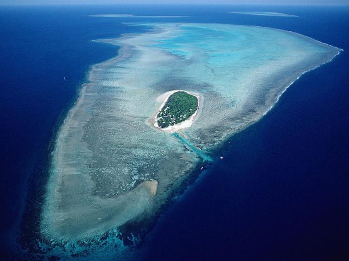 Большой Барьерный риф с высоты птичьего полета.