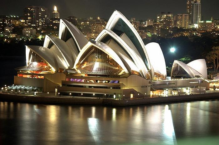 Ночной Сидней.