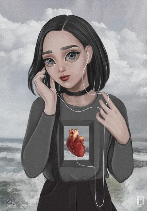 Слушая сердце. Автор: Aya Bitik.
