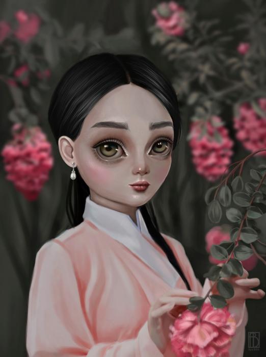 В саду. Автор: Aya Bitik.