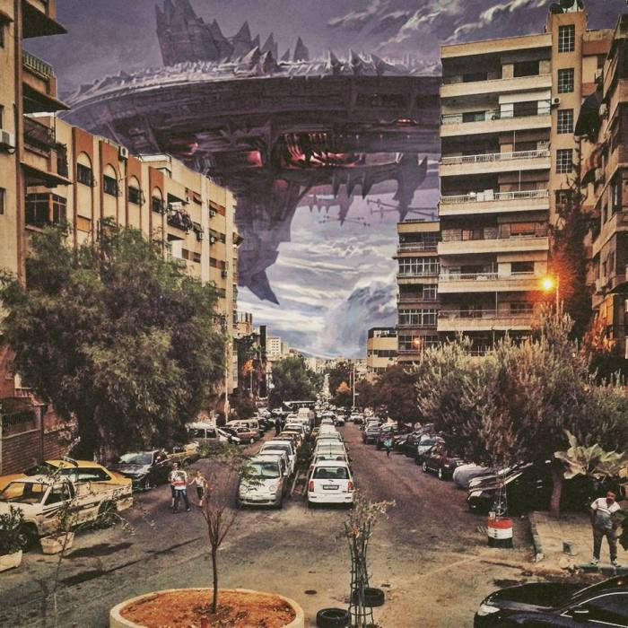 Дамаск под атакой. Автор: Ayham Jabr.