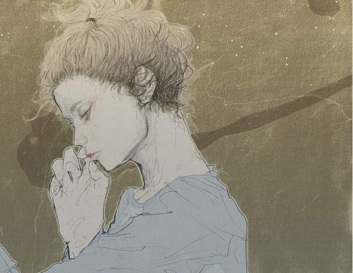 Задумчивость. Автор работ: Аю Наката (Ayu Nakata).