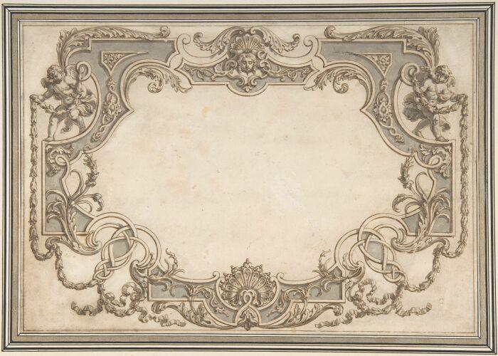 Дизайн потолка в стиле позднего барокко, Жан Берн Старший. \ Фото: metmuseum.org.