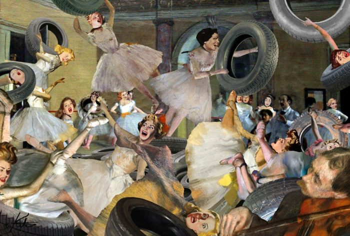 Танцы с шинами. Автор: Barry Kite.