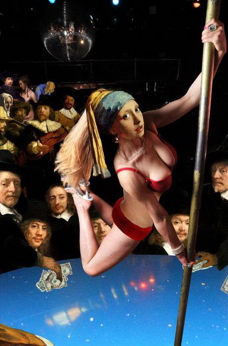 Девушка с жемчужной серёжкой выступление в баре. Автор: Barry Kite.
