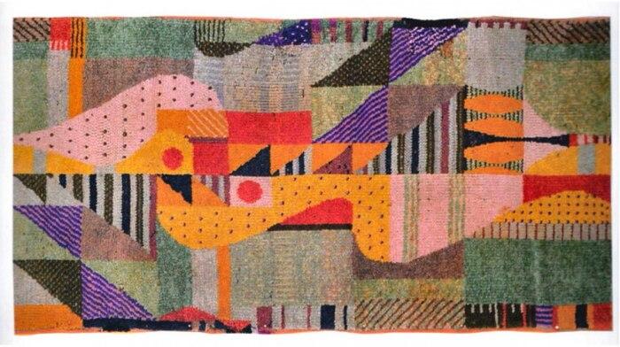 Узловатый напольный ковёр, Гунта Штёльцль, 1923 год. \ Фото: pinterest.de.