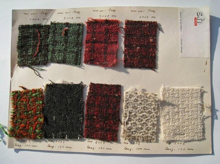 Образцы тканей <br>Гунты, 1940 год. \ Фото: yandex.ua.