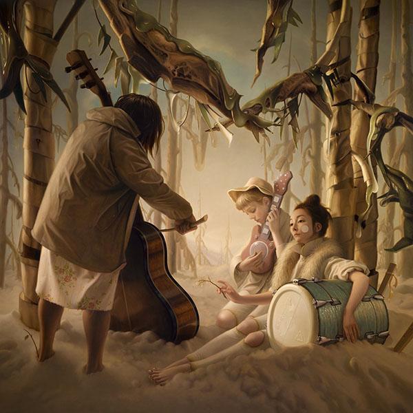 «Эфемерная фуга» (масло на деревянной панели). Автор: Steve Chmilar.