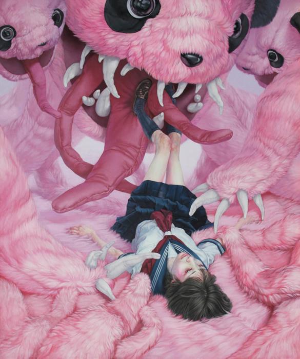 Работа, ставшая победителем: «Рельеф» (холст, акрил, масло). Автор: Kazuhiro Hori.