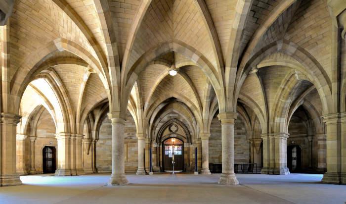 Университет Глазго внутри. \ Фото: aspenpeople.co.uk.