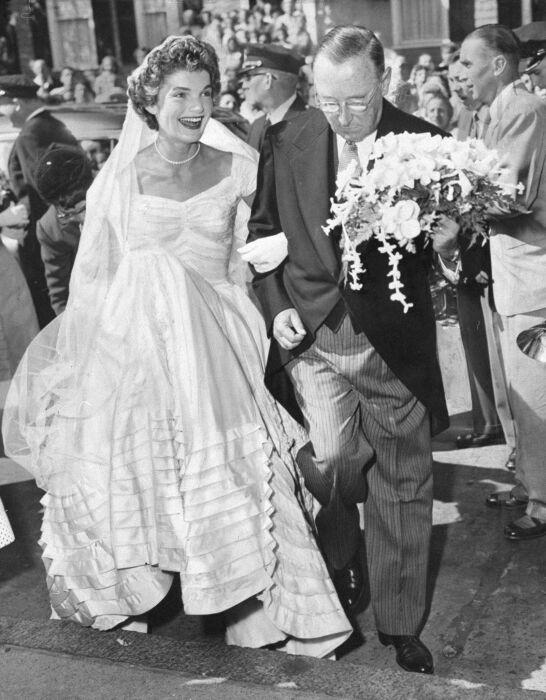 Жаклин Кеннеди свадьба. \ Фото: in.pinterest.com.