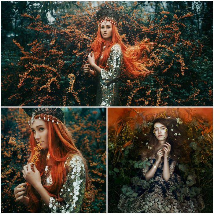 Были в золоте деревья, как жар-птицы оперенье, Только вот жар-птицы было – не было. Автор: Bella Kotak.