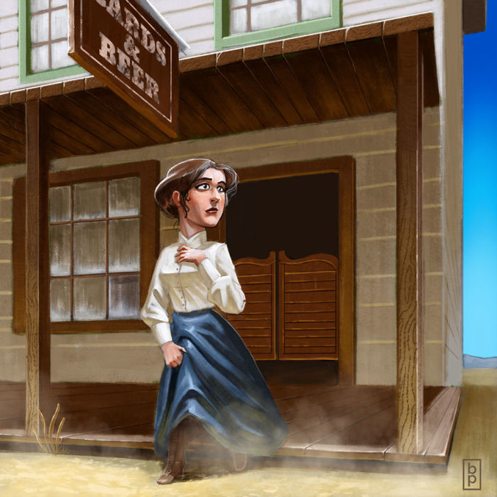 Женщина Дикого Запада. Автор: Ben Pannell.