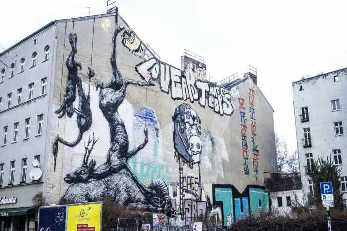 Современное берлинское публичное искусство. \ Фото: vocal.media.