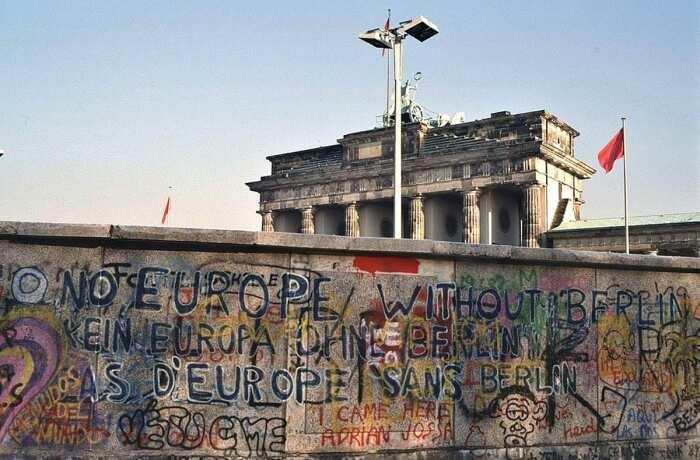 Нет Европы без Берлина, 1988 год. \ Фото: commons.wikimedia.org.
