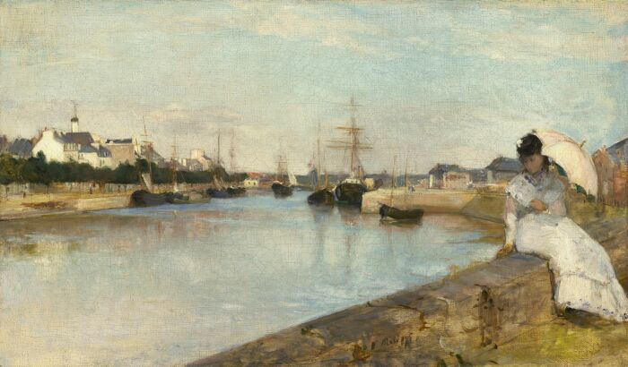 Гавань в Лорьяне, автор Берта Моризо, 1869 год.  Фото: mobile.twitter.com.