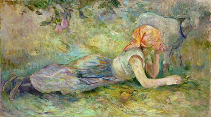 Пастушка отдыхает, Берта Моризо, 1891 год.  Фото: tgtourism.tv.