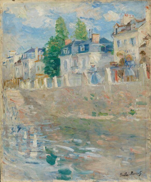 На берегах Сены в Буживале, автор Берта Моризо, 1883 год.