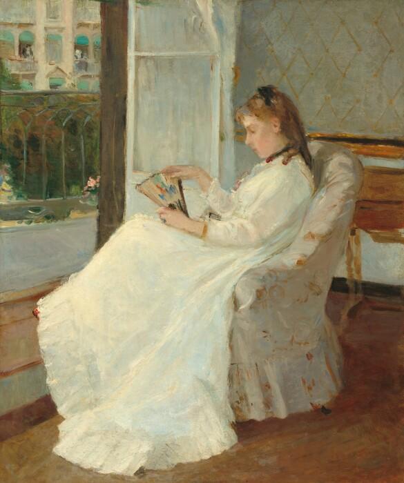 Сестра художницы у окна, Берта Моризо, 1869 год. \ Фото: wordpress.com.