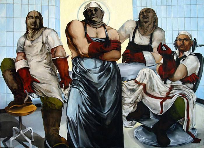 Картины, базирующиеся на суровых реалиях нашей жизни. Автор: Biljana Djurdjevic.