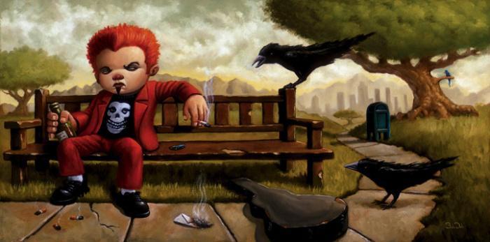 Чёрный ворон. Автор: Bob Dob.