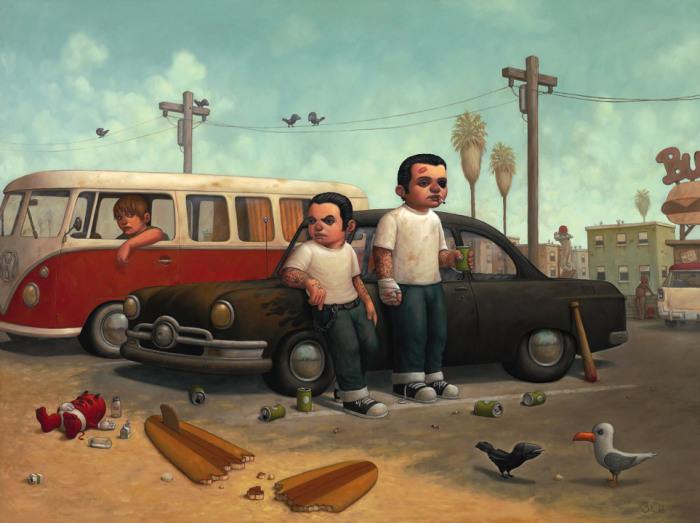 Панк, пляжные вечеринки и сомнительные удовольствия: Иллюстрации о том, что жизнь - не всегда хорошие времена