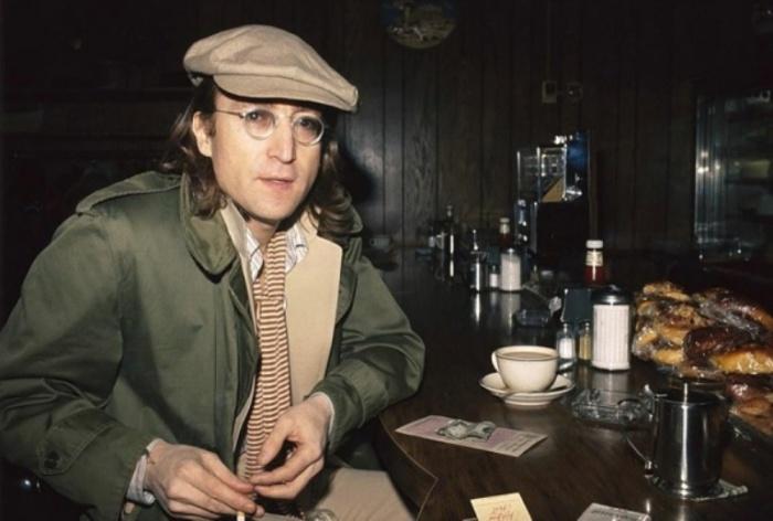 Джон Леннон (John Lennon), 1975 год. Автор фото: Bob Gruen.