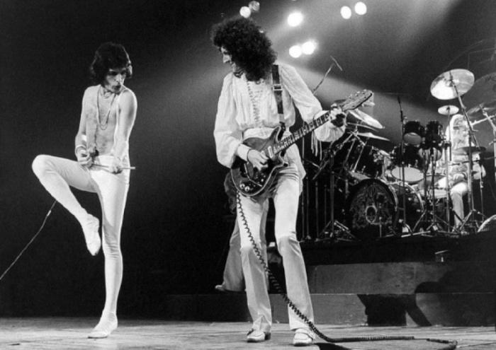 Queen, 1977 год. Автор фото: Bob Gruen.