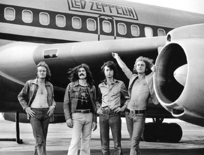 Led Zeppelin, 1973 год. Автор фото: Bob Gruen.