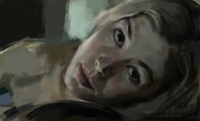 Девушка ушла. Цифровая живопись. Автор: Божена Доду (Bogena Dia).