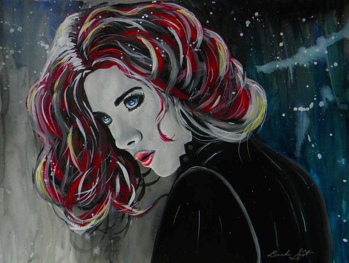 Чёрная вдова: Скарлетт Йоханссон. Автор: Brandon Scott.